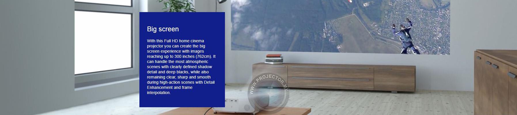 خلق تصاویر درخشان و بزرگ ویدئو پروژکتور  EH-TW5650