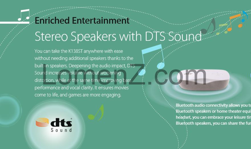 بلندگوی استریو با DTS Sound