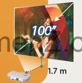 قابلیت پرتاب کوتاه (Short-Throw Projection)